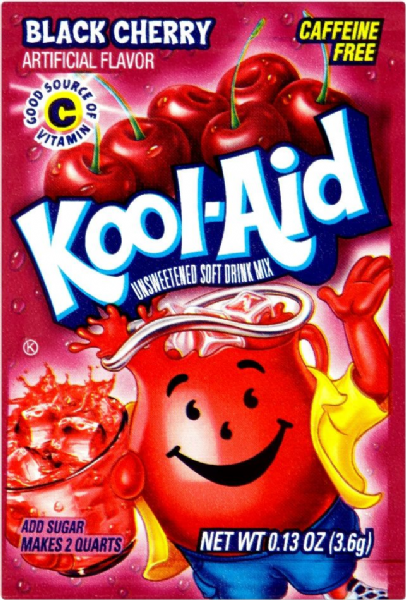 Kool-Aid Unsweetened Soft Drink Mix Black Cherry 3.6g